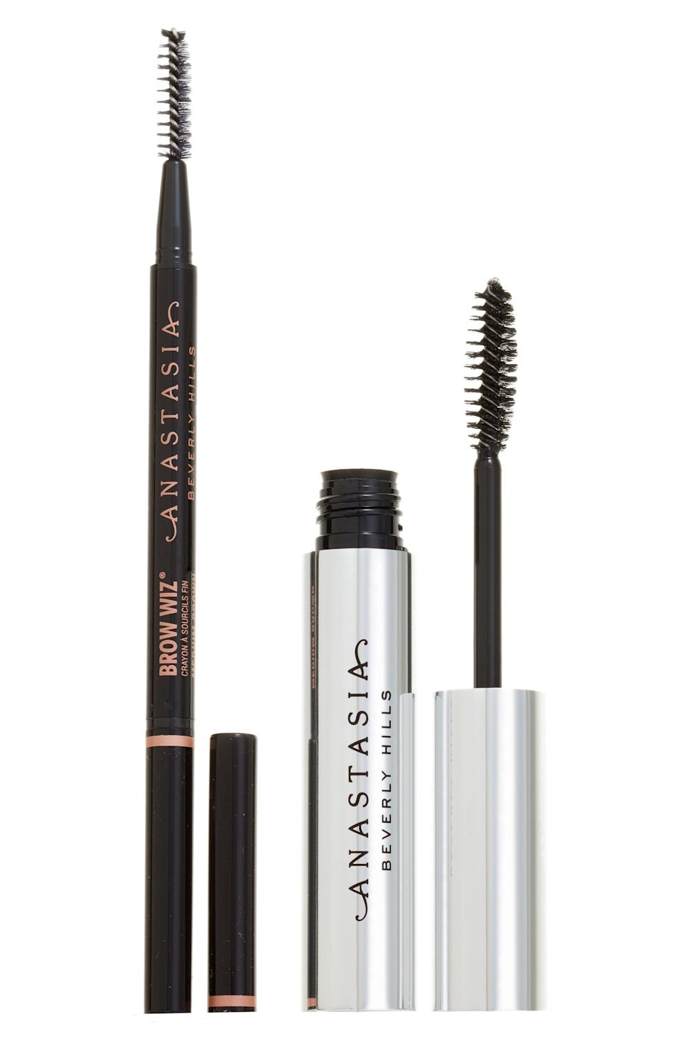 """<p><strong>Anastasia Beverly Hills</strong></p><p>nordstrom.com</p><p><a href=""""https://go.redirectingat.com?id=74968X1596630&url=https%3A%2F%2Fwww.nordstrom.com%2Fs%2Fanastasia-beverly-hills-brow-bae-sics-kit%2F5590148&sref=https%3A%2F%2Fwww.elle.com%2Ffashion%2Fshopping%2Fg33444637%2Fnordstrom-anniversary-sale-2020%2F"""" rel=""""nofollow noopener"""" target=""""_blank"""" data-ylk=""""slk:Shop Now"""" class=""""link rapid-noclick-resp"""">Shop Now</a></p><p><del>$45</del></p><p><strong>$27</strong></p>"""