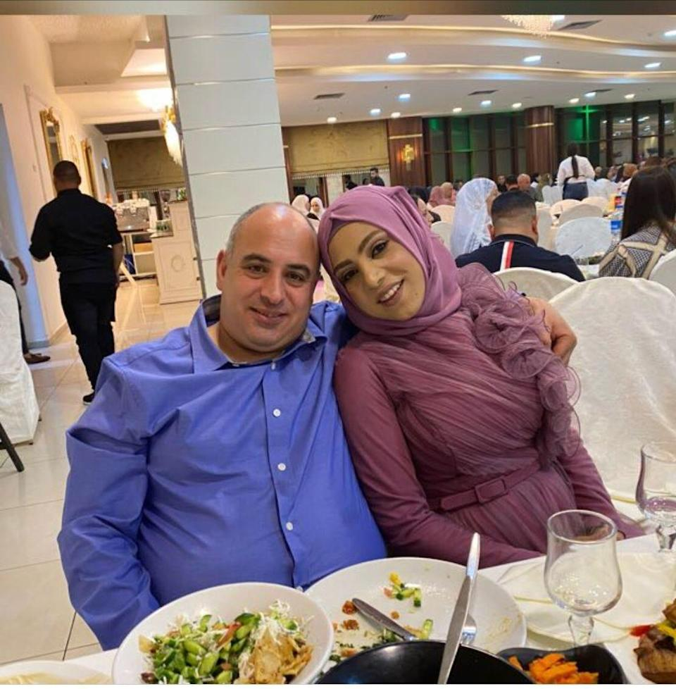 """Walaa Azaiza, right, and her husband, Khaled Ibrahem. """"He is my king,"""" says Azaiza of Ibrahem, who volunteered to donate his kidney – which went to a Jewish mother in another part of Israel – in order to make Azaiza part of a historic kidney exchange. Her life was saved by a kidney donated by the daughter of a sick woman in the United Arab Emirates, which was implanted in Azaiza at Rambam Hospital in Haifa, Israel."""