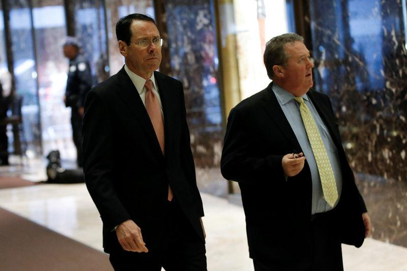 Randall Stephenson, Chief Executive Officer (CEO) of AT&T arrives for meeting with U.S. President-elect Donald Trump at Trump Tower in New York