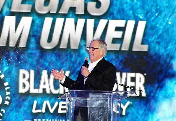 LAS VEGAS, NV - NOVEMBER 22: Vegas Golden Knights team owner Bill Foley speaks during the Las Vegas NHL team name Unveiling ceremony on November 22, 2016, at The Park at T-Mobile Arena in Las Vegas, NV. (Photo by Josh Holmberg/Icon Sportswire via Getty Images)