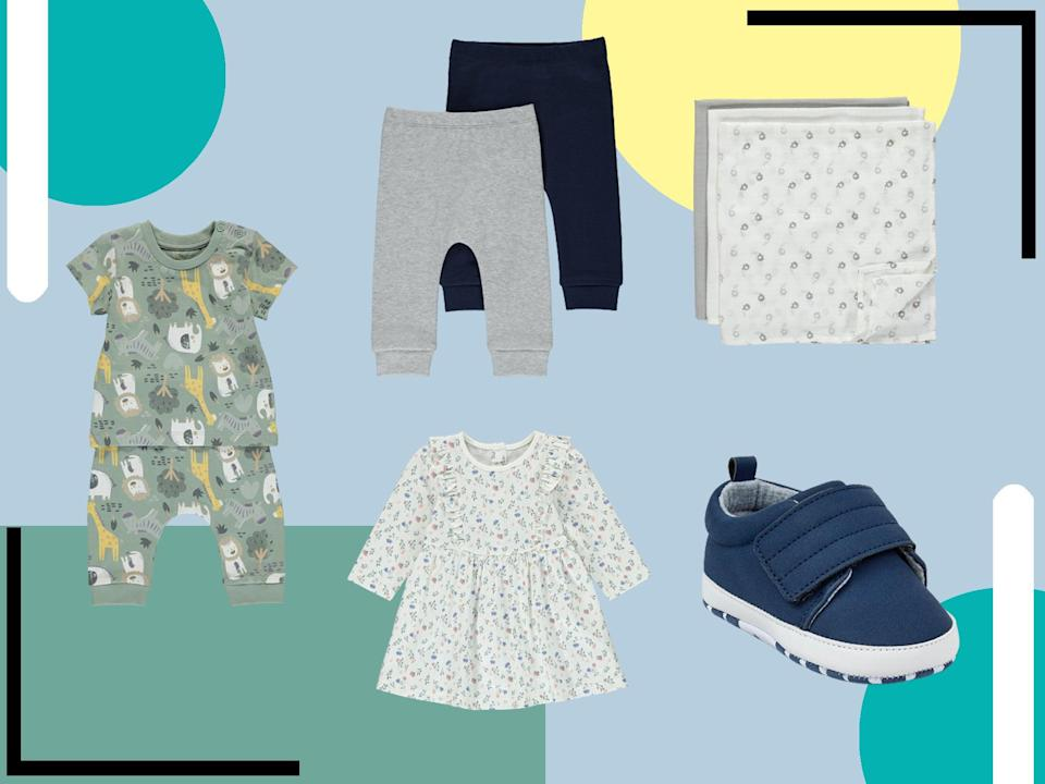 <p>From multipacks of bibs and sun hats to dresses and leggings, the retailer has it all</p> (The Independent)