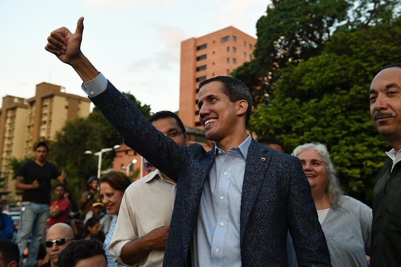Juan Guaido is recognized as Venezuela's interim president by more than 50 countries (AFP Photo/Federico Parra                      )