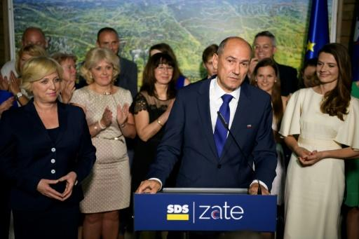 """Speaking with little triumphalism, Jansa said his Slovenian Democratic Party's """"door for talks and coalitions is open"""""""