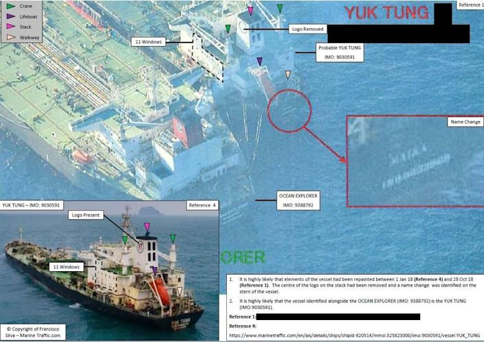 Last year's U.N. report described how the North Koreans engaged in identify theft on the high seas, using a blacklisted vessel as an imposter for a similar ship thousands of miles away.
