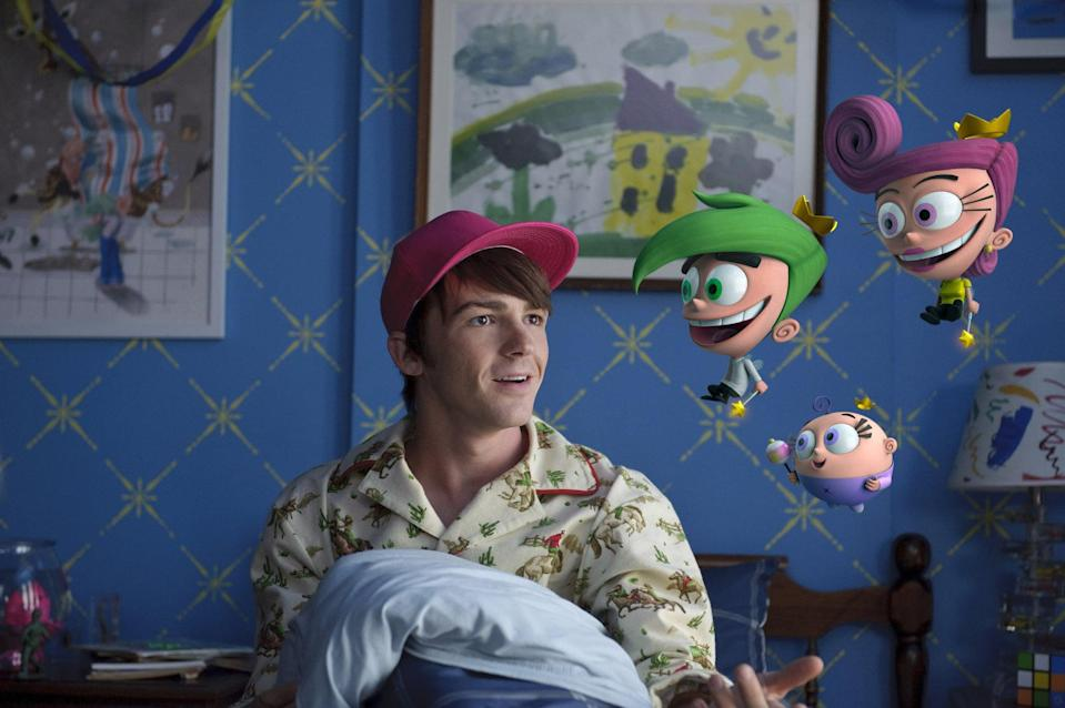 """<p><b>Paramount+'s Description:</b> """"Perpetual fifth-grader Timmy Turner, 23, has tried everything to stay a kid and keep his fairy Godparents. But will he grow up at last and save Dimmsdale, or will he stay a kid forever?""""</p> <p><a href=""""https://www.paramountplus.com/movies/a-fairly-odd-movie-grow-up-timmy-turner/ZPQfCObOhFIZiyqS1H5e_tniFSp_R7ps/"""" class=""""link rapid-noclick-resp"""" rel=""""nofollow noopener"""" target=""""_blank"""" data-ylk=""""slk:Watch A Fairly Odd Movie: Grow Up, Timmy Turner on Paramount+ here!"""">Watch <strong>A Fairly Odd Movie: Grow Up, Timmy Turner</strong> on Paramount+ here!</a></p>"""
