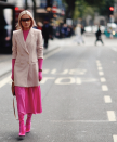 <p>The long boot trend also went one step further, as fashion forward influencers styled the boots under dresses, which majorly caught on.<em> [Photo: Maffashion]</em> </p>