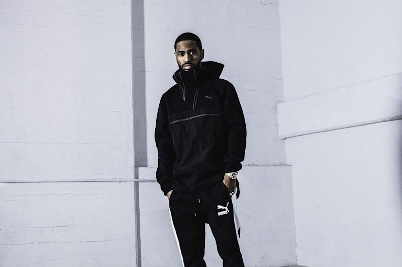 The rapper joins the Puma roster alongside Rihanna and The Weeknd—and gives us an exclusive first look at the goods.