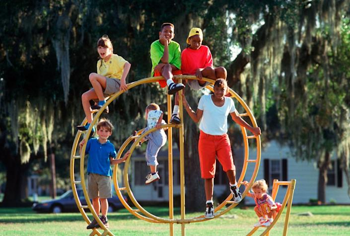 Kids Alone at the park in the 1990s