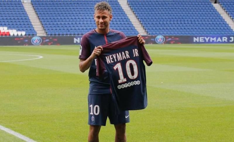 Neymar remains the most expensive signing in football history when he moved to PSG from Barcelona. AP