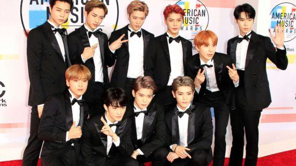 PHOTO: South Korean boy band NCT 127 arrive for the 2018 American Music Awards in Los Angeles, Oct. 09, 2018. (Nina Prommer/EPA via Shutterstock)