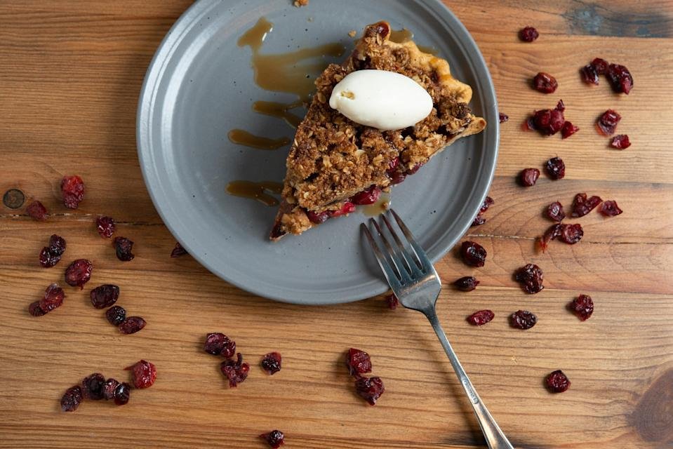 """<p>There won't be any need to burn the cranberry apple candle you bought to bring the scent of autumn to your home. Instead, bake this cranberry-apple cobbler pie filled with autumnal spices and serve with <a href=""""https://www.thedailymeal.com/eat/most-searched-ice-cream-america?referrer=yahoo&category=beauty_food&include_utm=1&utm_medium=referral&utm_source=yahoo&utm_campaign=feed"""" rel=""""nofollow noopener"""" target=""""_blank"""" data-ylk=""""slk:a scoop of vanilla ice cream"""" class=""""link rapid-noclick-resp"""">a scoop of vanilla ice cream</a>.</p> <p><a href=""""https://www.thedailymeal.com/recipes/cranberry-apple-cobbler-pie-recipe?referrer=yahoo&category=beauty_food&include_utm=1&utm_medium=referral&utm_source=yahoo&utm_campaign=feed"""" rel=""""nofollow noopener"""" target=""""_blank"""" data-ylk=""""slk:For the Cranberry-Apple Cobbler Pie recipe, click here."""" class=""""link rapid-noclick-resp"""">For the Cranberry-Apple Cobbler Pie recipe, click here.</a></p>"""