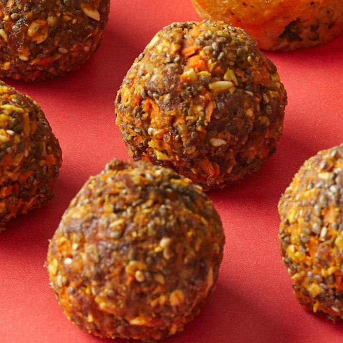 <p>These no-cook energy bites keep well in the fridge or freezer and are easy to grab on the go for a healthy snack.</p>