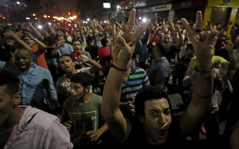 Small groups of protesters gather in central Cairo shouting anti-government slogans in Cairo, Egypt September 21, 2019. - Credit: Reuters