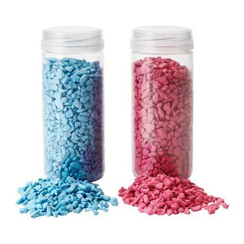 """<p>Though these adorable KULÖRT pebbles are no longer available online, you can try the same project with IKEA's broken glass KULÖRT.<br><br><a class=""""link rapid-noclick-resp"""" href=""""https://go.redirectingat.com?id=74968X1596630&url=https%3A%2F%2Fwww.ikea.com%2Fde%2Fde%2Fcatalog%2Fproducts%2F40317177%2F&sref=https%3A%2F%2Fwww.bestproducts.com%2Fhome%2Fg29514474%2Fbest-ikea-hacks%2F"""" rel=""""nofollow noopener"""" target=""""_blank"""" data-ylk=""""slk:BUY NOW"""">BUY NOW</a> <strong><em>KULÖRT Glassplitter, </em></strong><strong><em>1.99€, ikea.com</em></strong></p>"""