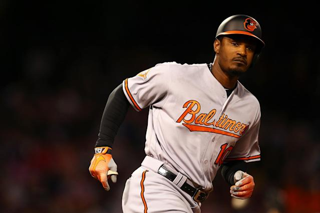 Adam Jones says he was taunted by Red Sox fans with racial slurs. (Getty Images)