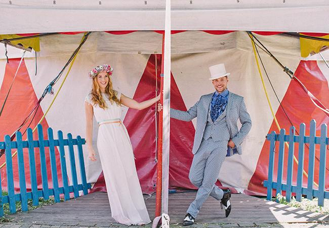"""<div class=""""caption-credit"""">Photo by: Nancy Ebert Photography</div><div class=""""caption-title""""></div>1. Did they have their reception at a three-ring circus or on the beach? <br> <b>More from The Knot:</b> <a rel=""""nofollow"""" href=""""http://wedding.theknot.com/bridal-fashion/wedding-dress-shopping/articles/daring-wedding-dresses-2012.aspx?cm_mmc=TKInline-_-Yahooshine-_-12%20Questions%20We%20Have%20For%20Stacy%20Keibler's%20Husband%20Regarding%20His%20Top%20Hat-_-Outrageous%20Dresses%20From%20Bridal%20Fashion%20Week"""" target="""""""">Outrageous Dresses From Bridal Fashion Week</a>"""