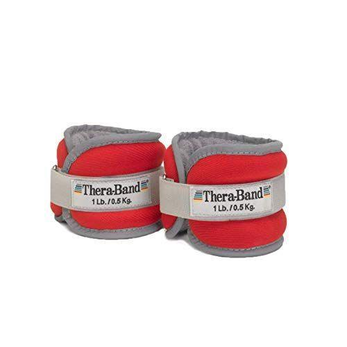"""<p><strong>TheraBand</strong></p><p>amazon.com</p><p><strong>$14.82</strong></p><p><a href=""""https://www.amazon.com/dp/B0040FHV2Q?tag=syn-yahoo-20&ascsubtag=%5Bartid%7C2141.g.35862955%5Bsrc%7Cyahoo-us"""" rel=""""nofollow noopener"""" target=""""_blank"""" data-ylk=""""slk:Shop Now"""" class=""""link rapid-noclick-resp"""">Shop Now</a></p><p>It turns out the brand known for for their versatile resistance bands also makes highly-rated ankle weights. While the outside is made of neoprene, the inner part that touches your skin is made of soft terrycloth. There's also a <strong>reflective trim for outdoor safety.</strong></p>"""