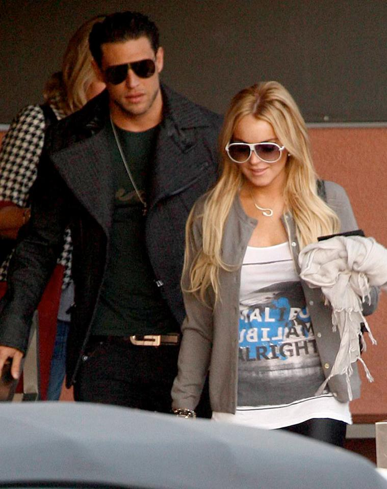 "Business or pleasure? Lindsay Lohan was spotted out and about in Hollywood with Britney's ex-boyfriend J.R. Rotem. Rotem is a successful record producer; could Lindsay be working on a new album? <a href=""http://www.x17online.com"" target=""new"">X17 Online</a> - December 10, 2007"