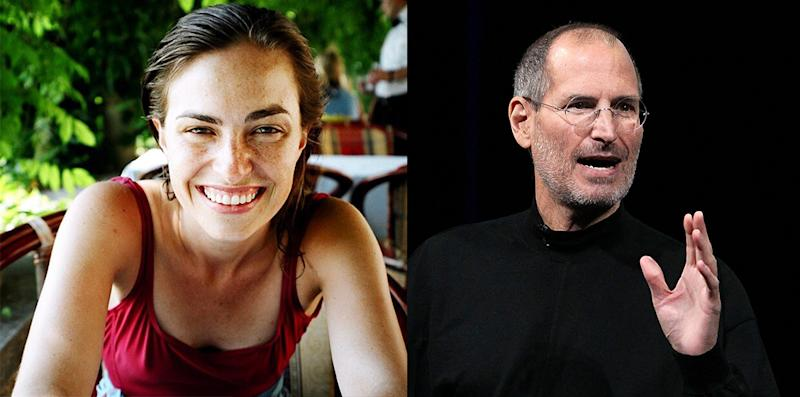 Lisa Brennan-Jobs and Steve Jobs
