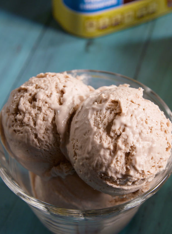 """<p>Tastes just like a Wendy's Frosty—and uses only 3 ingredients!</p><p>Get the recipe from <a href=""""/cooking/recipe-ideas/recipes/a48758/nesquik-no-churn-ice-cream-recipe/"""" data-ylk=""""slk:Delish"""" class=""""link rapid-noclick-resp"""">Delish</a>.</p>"""