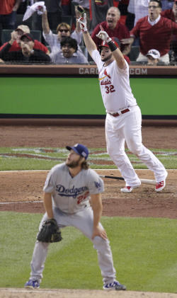 Adams knew he had homered off Kershaw almost as soon as he connected. (AP)
