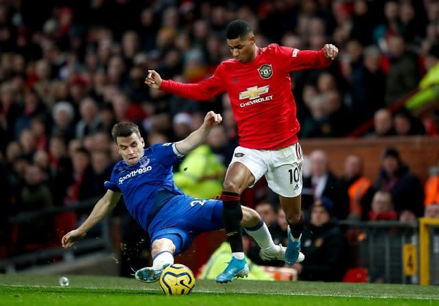 Manchester United were held to a 1-1 draw by Everton on Sunday (Martin Rickett/PA)