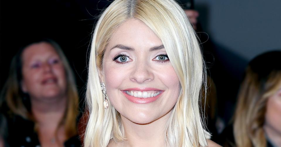 Holly Willoughby wore the perfect Valentine's Day look on This Morning. (Getty Images)