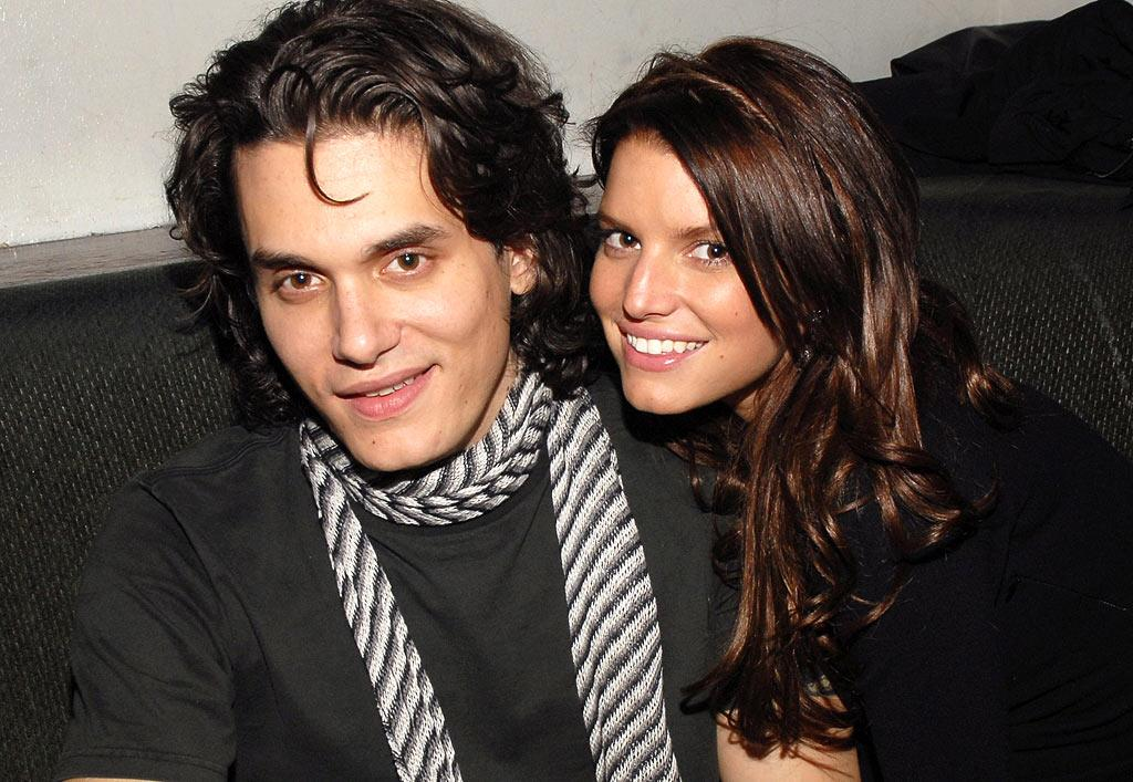 "Although everyone suspected that John Mayer and Jessica Simpson were dating, the singers tried their best to downplay the relationship. They made beautiful music together for a few months, but ultimately hit a bad note and broke up in June. Kevin Mazur/<a href=""http://www.wireimage.com"" target=""new"">WireImage.com</a> - February 28, 2007"