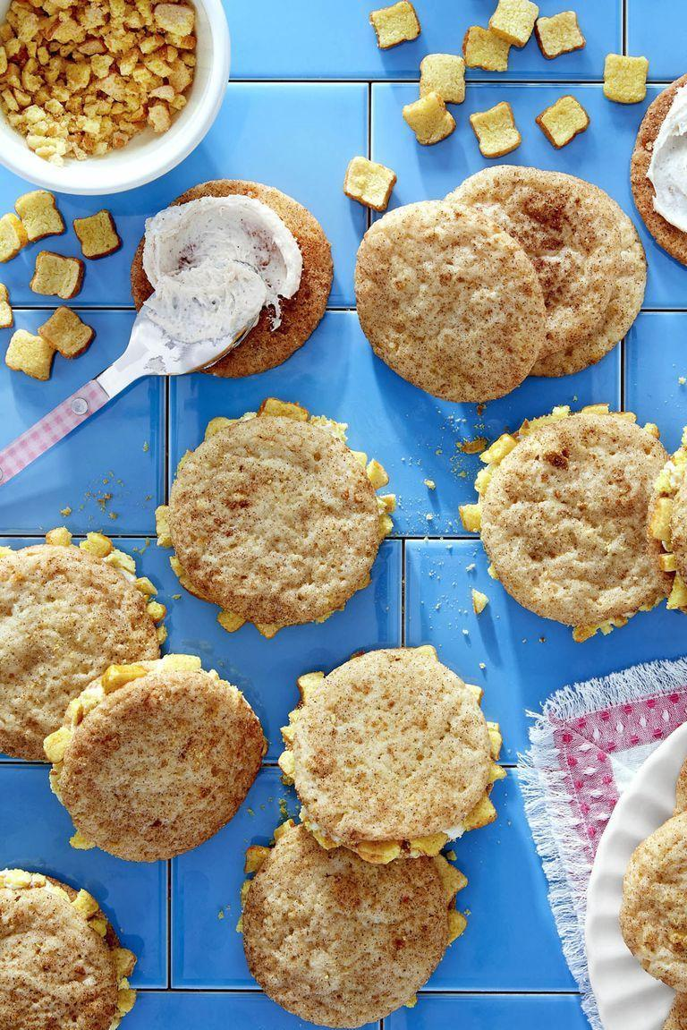 """<p>A homemade batch of snickerdoodle cookies will make your home smell delicious on New Year's Eve.</p><p><strong><a href=""""https://www.countryliving.com/food-drinks/recipes/a46345/french-toast-crunch-snickerdoodle-sandwiches-recipe/"""" rel=""""nofollow noopener"""" target=""""_blank"""" data-ylk=""""slk:Get the recipe"""" class=""""link rapid-noclick-resp"""">Get the recipe</a>.</strong><br></p>"""