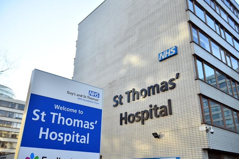 St Thomas' Hospital in London, where a third person was brought for treatment after testing positive for coronavirus in the UK on Wednesday (Photo: PA)