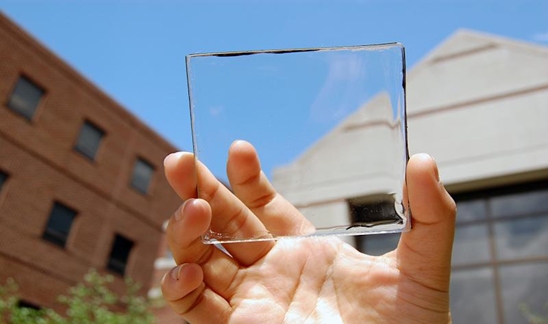 solar cell window transparent see through panel
