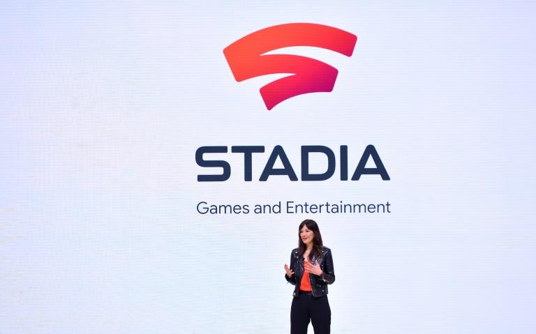 Head of Stadia Games and Entertainment Jade Raymond speaks during the annual Game Developers Conference in San Francisco, California on March 19, 2019 (AFP Photo/Josh Edelson)