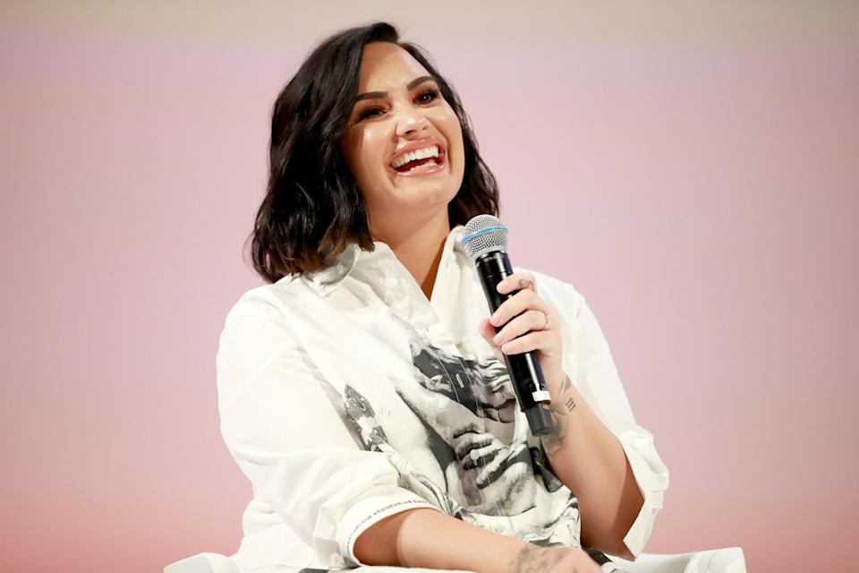 """It was actually, like, emotional, but really beautiful,"" Lovato <a href=""https://www.youtube.com/watch?v=k6eDsSZr_80&feature=youtu.be"" rel=""nofollow noopener"" target=""_blank"" data-ylk=""slk:said of her coming out"" class=""link rapid-noclick-resp"">said of her coming out</a>, which happened officially with her parents in 2017. (She identifies as <a href=""https://www.seventeen.com/celebrity/a30729093/demi-lovato-telling-her-parents-shes-bisexual/"" rel=""nofollow noopener"" target=""_blank"" data-ylk=""slk:bisexual"" class=""link rapid-noclick-resp"">bisexual</a>.) ""After everything was done, I was, like, shaking and crying and I just felt overwhelmed, but I have such incredible parents. They were so supportive. My dad was like, 'Yeah, obviously.' And I was like, 'Oh, okay, Dad.' My mom was the one that I was, like, super nervous about, but she was just like, 'I just want you to be happy.' That was so beautiful and amazing, and like I said, I'm so grateful."""
