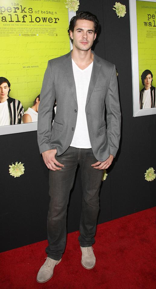 "HOLLYWOOD, CA - SEPTEMBER 10: Actor Jayson Blair attends the Premiere Of Summit Entertainment's ""The Perks Of Being A Wallflower"" at the Arclight Cinerama Dome on September 10, 2012 in Hollywood, California.  (Photo by Frederick M. Brown/Getty Images)"