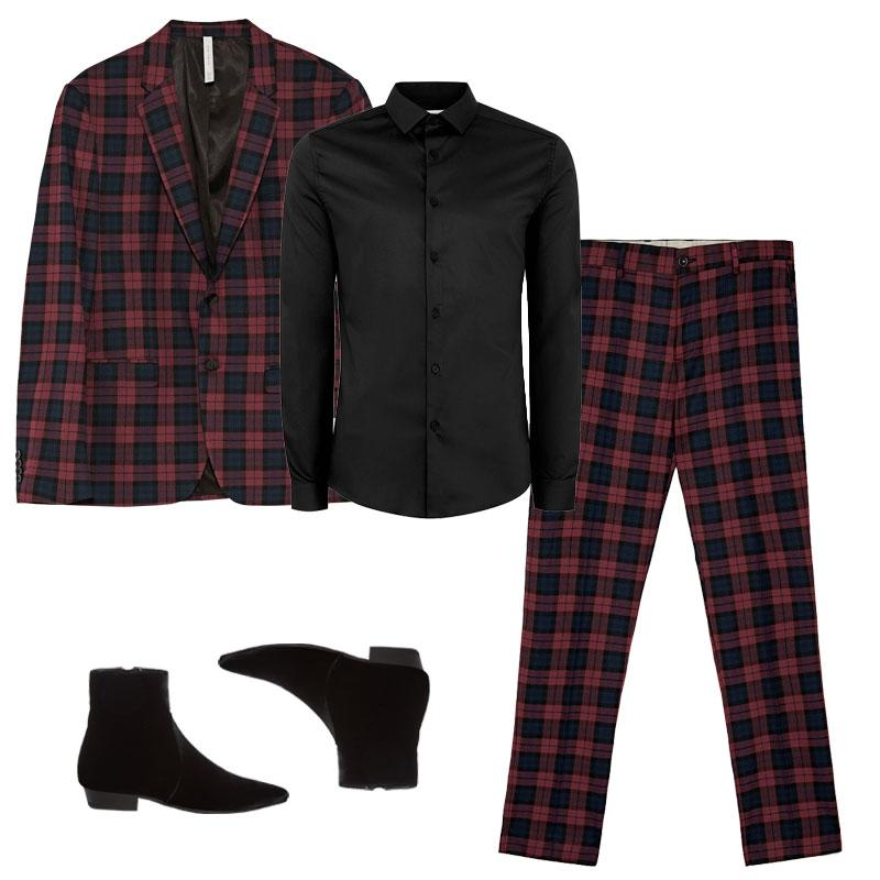"<a rel=""nofollow"" href=""https://www.zara.com/us/en/-c269233p4990017.html"">Checked Burgundy Suit Blazer, Zara, $149<p>Channel the Rolling Stones front man's flamboyant flair by rocking a plaid checked suit, satin shirt and edgy Chelsea boots.</p> </a><a rel=""nofollow"" href=""https://click.linksynergy.com/deeplink?id=30KlfRmrMDo&mid=35859&murl=http%3A%2F%2Fus.topman.com%2Fen%2Ftmus%2Fproduct%2Fclothing-172005%2Fmens-collared-shirts-5365255%2Fls-blk-satin-stretch-6901073%3Fbi%3D20%26ps%3D20"">Black Satin Muscle Fit Shirt, Topman, $70<p>Channel the Rolling Stones front man's flamboyant flair by rocking a plaid checked suit, satin shirt and edgy Chelsea boots.</p> </a><a rel=""nofollow"" href=""https://www.zara.com/us/en/-c269233p4990018.html"">Checked Burgundy Suit Trousers, Zara, $80<p>Channel the Rolling Stones front man's flamboyant flair by rocking a plaid checked suit, satin shirt and edgy Chelsea boots.</p> </a><a rel=""nofollow"" href=""https://ec.yimg.com/ec?url=http%3a%2f%2fshop-links.co%2f1585266015257630241%26quot%3b%26gt%3bDeven&t=1506169525&sig=NbCvoxycY8pd_CgFxRQRZQ--~D Point-Toe Velvet Chelsea Boots, Saint Laurent, $995<p>Channel the Rolling Stones front man's flamboyant flair by rocking a plaid checked suit, satin shirt and edgy Chelsea boots.</p> </a><p>     <strong>Related Articles</strong>     <ul>         <li><a rel=""nofollow"" href=""http://thezoereport.com/fashion/style-tips/box-of-style-ways-to-wear-cape-trend/?utm_source=yahoo&utm_medium=syndication"">The Key Styling Piece Your Wardrobe Needs</a></li><li><a rel=""nofollow"" href=""http://thezoereport.com/entertainment/celebrities/taylor-swift-look-what-you-made-me-do-bts-video/?utm_source=yahoo&utm_medium=syndication"">Taylor Swift's <i>Look What You Made Me Do</i> BTS Might Actually Be Better Than The Music Video</a></li><li><a rel=""nofollow"" href=""http://thezoereport.com/living/wellness/binge-watching-health-effects-study/?utm_source=yahoo&utm_medium=syndication"">TV Is Officially Killing You, Says Science</a></li>    </ul> </p>"