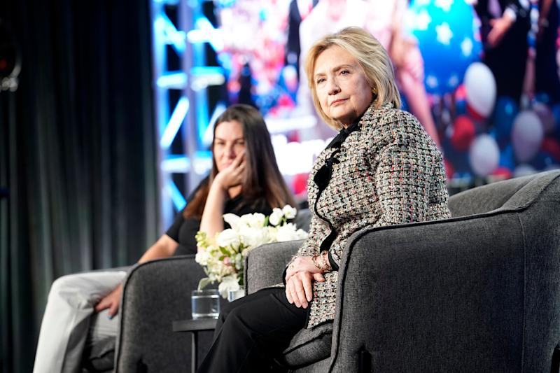 Hillary Rodham Clinton onstage during the Hulu Panel at Winter TCA on Jan. 17 in Pasadena, California. (Photo: Erik Voake via Getty Images)
