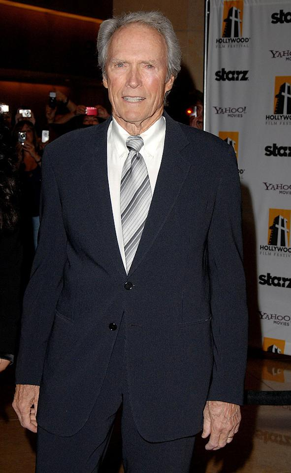 """<a href=""""http://movies.yahoo.com/movie/contributor/1800019744"""">Clint Eastwood</a> at the 12th Annual Hollywood Film Festival Awards Gala in Beverly Hills - 10/27/2008"""