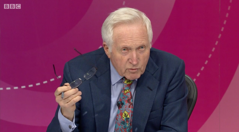 <strong>David Dimbleby earned cheers from the audience for his smackdown of Terry Christian </strong> (BBC)