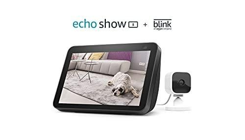 All-new Echo Show 8 (2nd Gen, 2021 release) - Charcoal bundle with Blink Mini