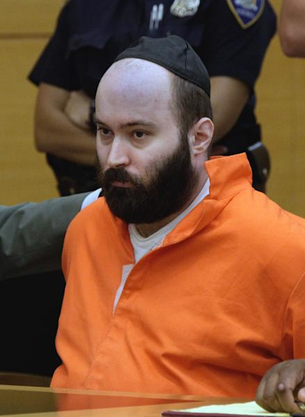 Levi Aron appears in New York state Supreme Court, in New York's Brooklyn borough, Thursday, Aug. 9, 2012. Aron pleaded guilty to charges he abducted and dismembered Leiby Kletzky, an 8-year-old boy who became lost in Brooklyn after leaving a day camp. It will result in a sentence of 40 years to life in prison. (AP Photo/Richard Drew, Pool)