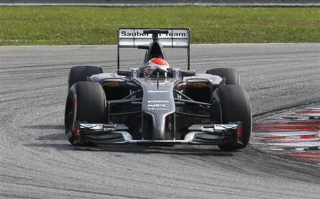 Sauber Formula One driver Sutil of Germany takes a corner during the Malaysian F1 Grand Prix at Sepang International Circuit outside Kuala Lumpur