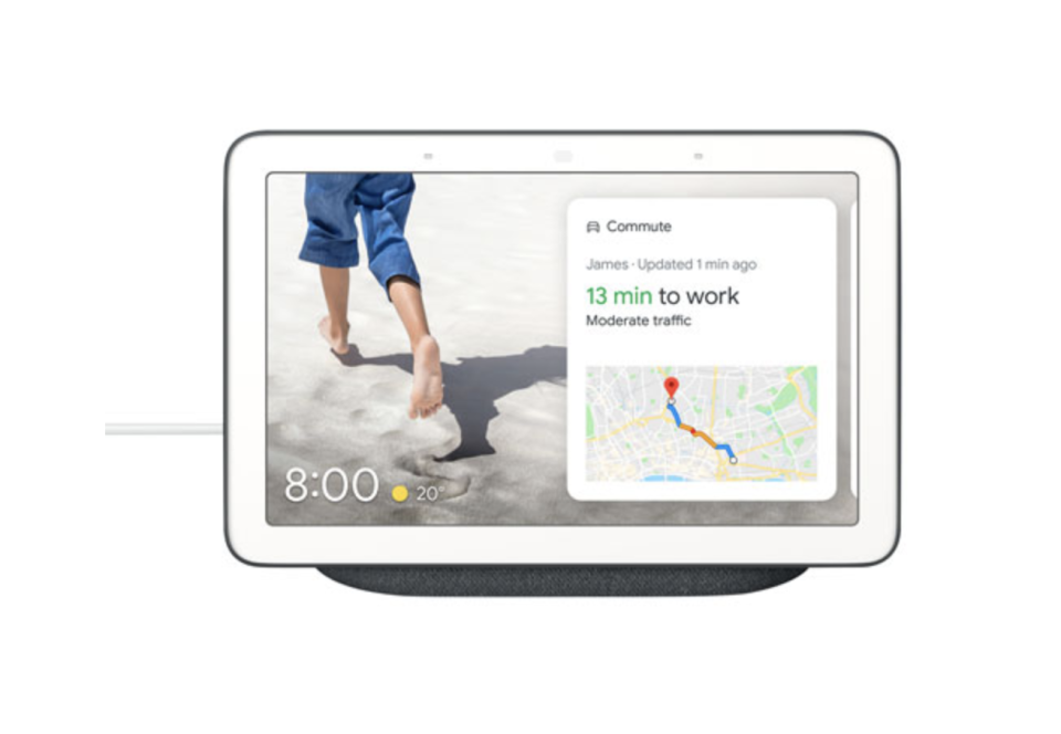 Google Nest Hub Smart Display with map to work on screen