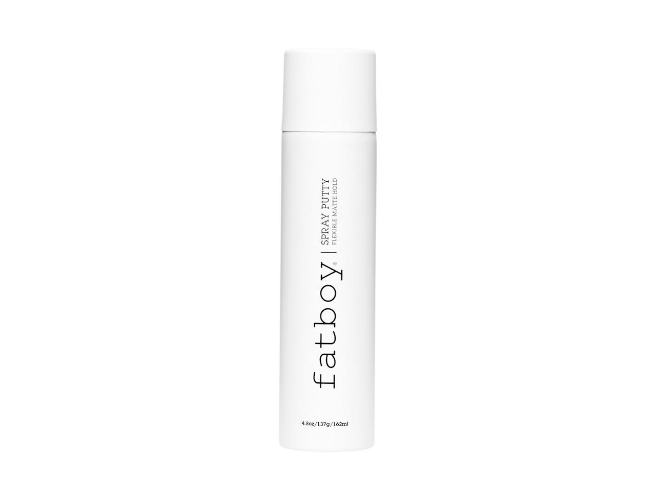 """<p>Get lived-in, piecey texture without dirtying your hands, thanks to the innovative spray form. Our short-haired tester loved that it dried soft, not sticky.</p> <p><strong>To buy:</strong> $28; <a href=""""https://click.linksynergy.com/deeplink?id=93xLBvPhAeE&mid=43176&murl=http%3A%2F%2Fwww.urbanoutfitters.com%2Fshop%2Ffatboy-hairspray-putty%3FinventoryCountry%3DUS%26color%3D000%26mrkgcl%3D671%26mrkgadid%3D3214898279%26cm_mmc%3DSEM-_-Google-_-PLA-_-326525228546_product_type_b_product_type_mensgrooming%26product_id%3D47223730%26utm_campaign%3DPLA%26adpos%3D1o1%26creative%3D209973883407%26device%3Dc%26matchtype%3D%26network%3Dg%26gclid%3DEAIaIQobChMItLfL_8_M3QIVClgNCh2hig3wEAQYASABEgKTv_D_BwE&u1=RS%2CTheBestBeautyProductsforFall%252CAccordingtoOurBeautyDirector%25281018BPS%2529%2Ctrowley805%2CMAK%2CIMA%2C629252%2C201810%2CI"""" target=""""_blank"""">urbanoutfitters.com</a>.</p>"""