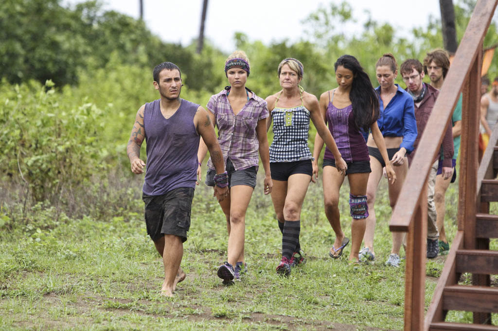 """Persona Non Grata"" - Brandon Hantz leads the Bikal Tribe to the Immunity Challenge during the fifth episode of ""Survivor: Caramoan - Fans vs. Favorites."""