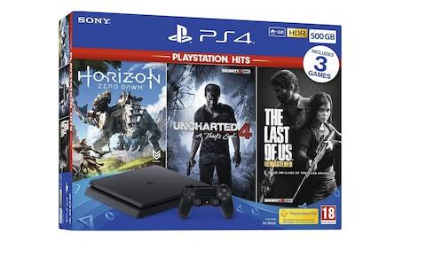 Sony PlayStation 4 500GB Console with Three Games Bundle