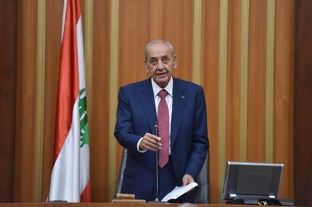 Nabih Berri, speaks after he was re-elected Lebanon's parliamentary speaker, as Lebanon's newly elected parliament convenes for the first time to elect a speaker and deputy speaker in Beirut