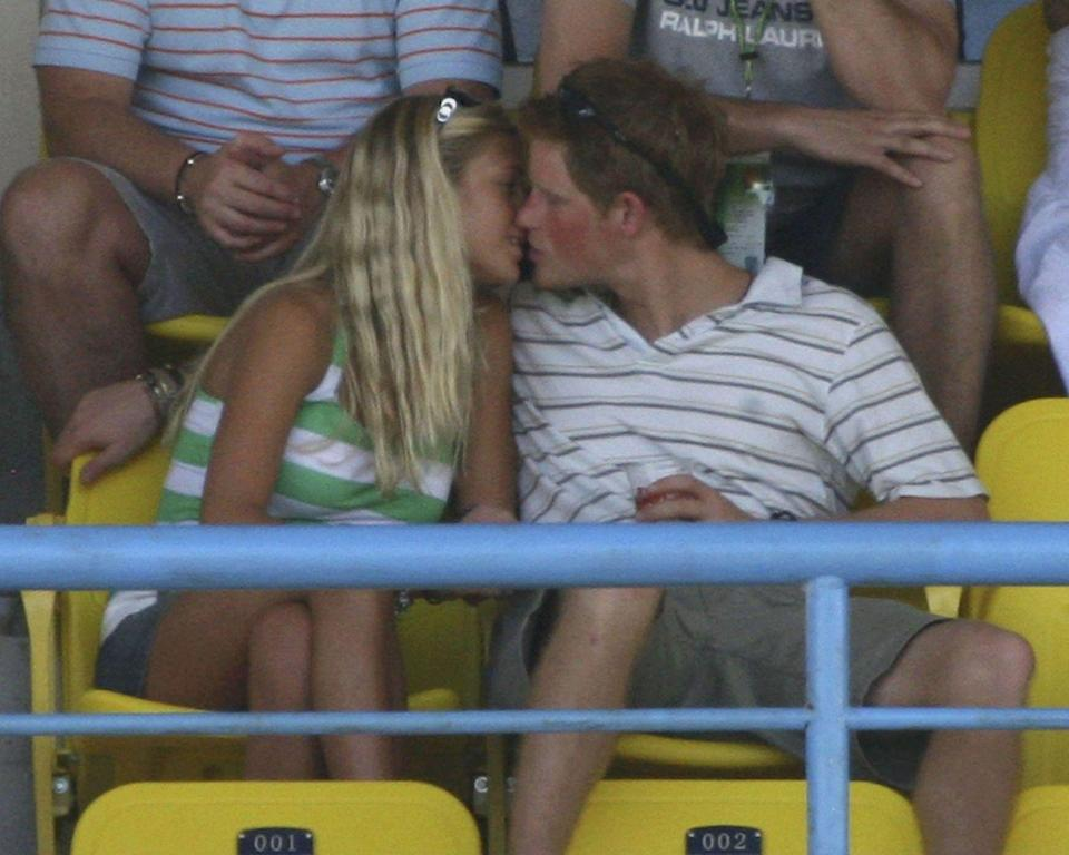 <p>Because twice is nice, Harry was once again spotted kissing then-girlfriend Chelsy Davy during a cricket match in 2008. Clearly he cares zero amounts about those strict royal PDA rules....</p>