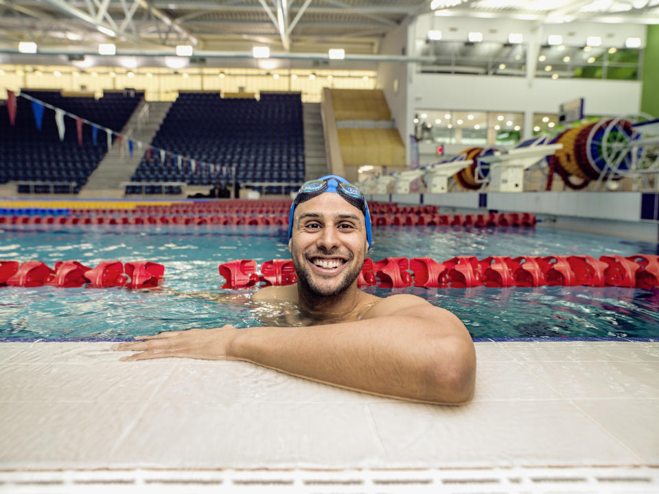 Swimmer Xavier Castelli also featured in the innovative National Lottery-funded project