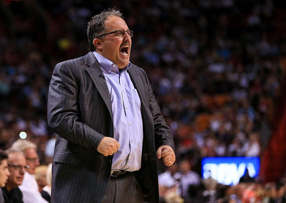 Stan Van Gundy is not happy. (Rob Foldy/Getty Images)