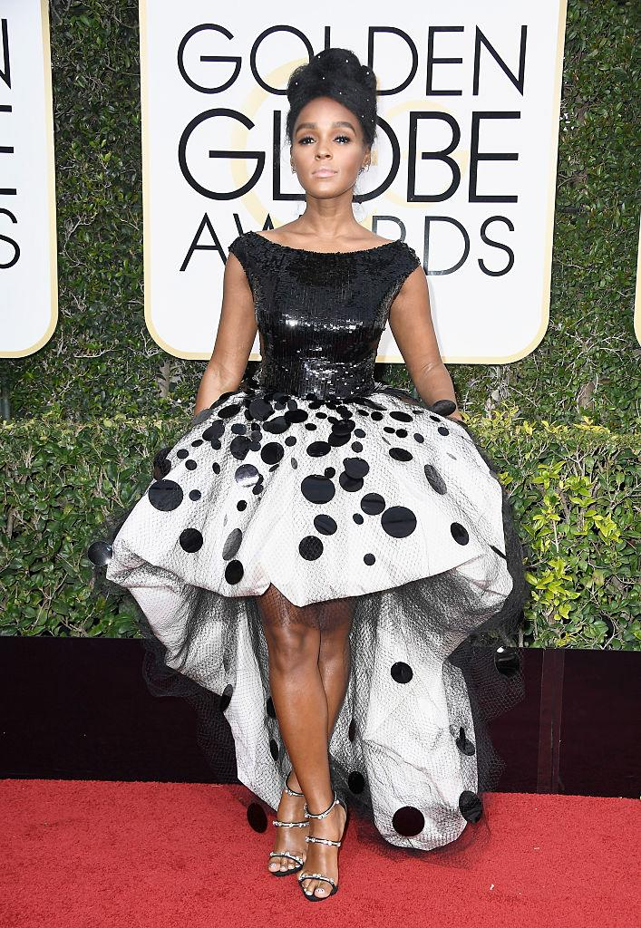 Janelle Monae in Armani. (Photo: Getty Images)